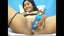 Asian model teasing with toy in her pussy