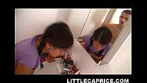 little caprice enjoys bathroom sex