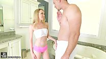 step-brother her on footjob does smalls Angel