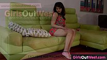 Exotic amateur chick orgasms on the sofa