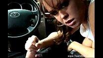 Amateur Handjob In Car Voyeur