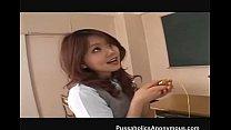 JPN schoolgirl Rio Sakaki toyed with dildos