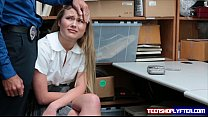 teen alyssa cole is a little thief caught red handed and pay the price