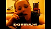 she talk  to boyfriend on the phone while she s...