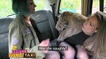 Female Fake Taxi Female lesbian cabbies get downright dirty porn videos