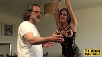 facefucked british sub ass fingered by dom