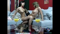 Dazzling lesbian actions featuring Caroline Cag...