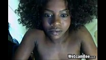 Black Girl With Puffy Hair Masturbates