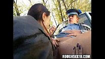 cops by fucked gets and dick sucks babe brunette sucks
