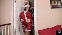 eve angel and regina moon have some christmas time fun