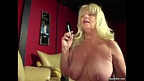 cock hard sucks granny smoking titted Big