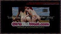 Girls Out West - Slender Aussie lesbian babes i...