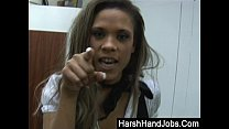 handjob harsh a with rise gets secretary Cbt