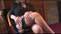 huge boobs mature lady in slip and stockings