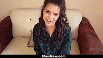 ShesNew - Latina Girlfriend Homemade Sex tape
