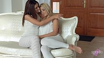 Christen Courtney and Alexis Brill fingering an...