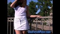 Mini Skirt Brunette Hardcore