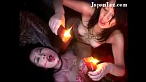 Japanese Asian Lesbian Strapon Fucked Hot Red Wax thumbnail