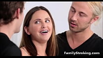 familystroking.com - brothers her both by fucked punish gets sister step Teen