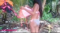 heather deep let s cum explode in throat out mouth and eats it on rainy day in bikini
