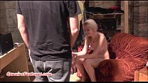 Sexy 18yo blondie shows her body at the first CASTING porn videos