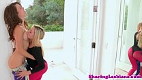 Real brunette lesbo getting pussylicked