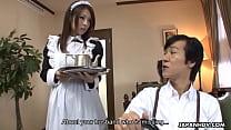 tai phim sex -xem phim sex Asian maid sucking a cock then gets a facial