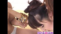 Saki Ogasawara sucks tool while riding another with hairy cooter porn videos