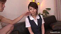 Horny Japanese hottie gets gangbanged