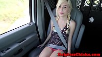 Hitching teen dominated in by stranger