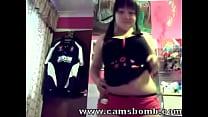 www.camsbomb.com - webcam on brunette teen Chubby