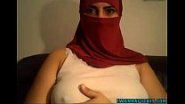 Middle Eastern Cam girl shows tits and pussy on webcam