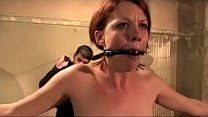 unde... vibrator pussy her on clips chains on Girl