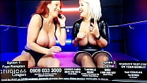 Babestations Faye Rampton flexing HUGE hard bic...