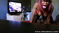 Black Teen Ebony Banks gets her first Anal Creampie by BBC
