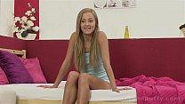 Hot blonde Sicilia enjoys anal toy action