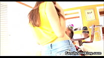 Step Dad Loves His Teen Daughters Tits - Family...