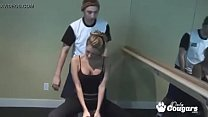 Cougar Working Out In Yoga Pants Decides To Blo...