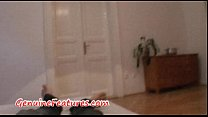 Real czech chick watches adult man masturbating