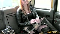 taxi driver pounds his redhead chubby chick passenger