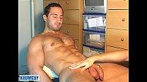 A real heterosexual sport guy serviced his huge...
