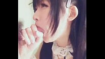 Japanese received cum in mouth