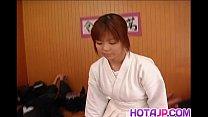 Ai Himeno licks and rides cock porn videos