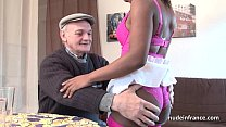 voyeur papy with threeway in fucked ass hard lingerie in slut Black