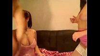 Three Lesbians On Webcam Lick An