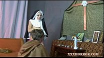 Nun Angelica Prones her ass with the cross