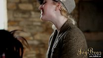 JoyBear Two lesbian girls in a barn
