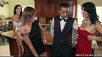 Free Brazzers videos tube - Ava is a smoking hot and very domineering MILF who orders her butler, Ke porn videos