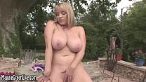 all natural maggie green masturbates outside