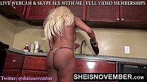 SEXY STEP SISTER MSNOVEMBER CORNERED FOR BOOTY...